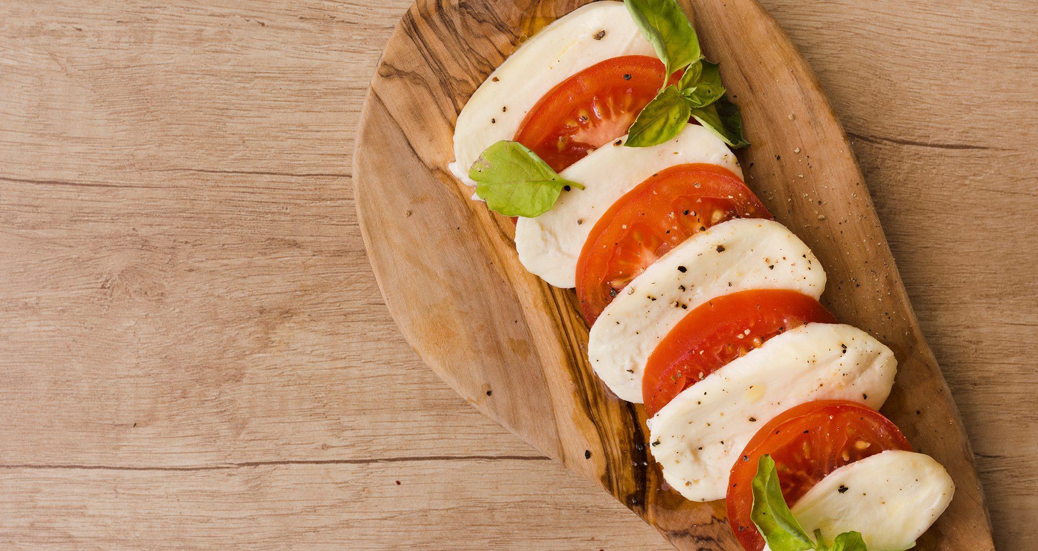 Roz's Caprese Salad with Grape Tomatoes, Mozzarella & Basil